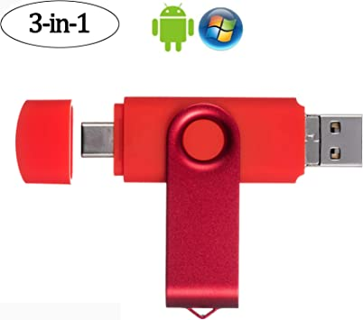 EASTBULL Flash Drive 3 in 1 USB Picture Keeper for Android 64GB Photo Stick