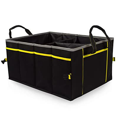 Amoybay Car Trunk Storage Organizer with Reflective Edging: Automotive