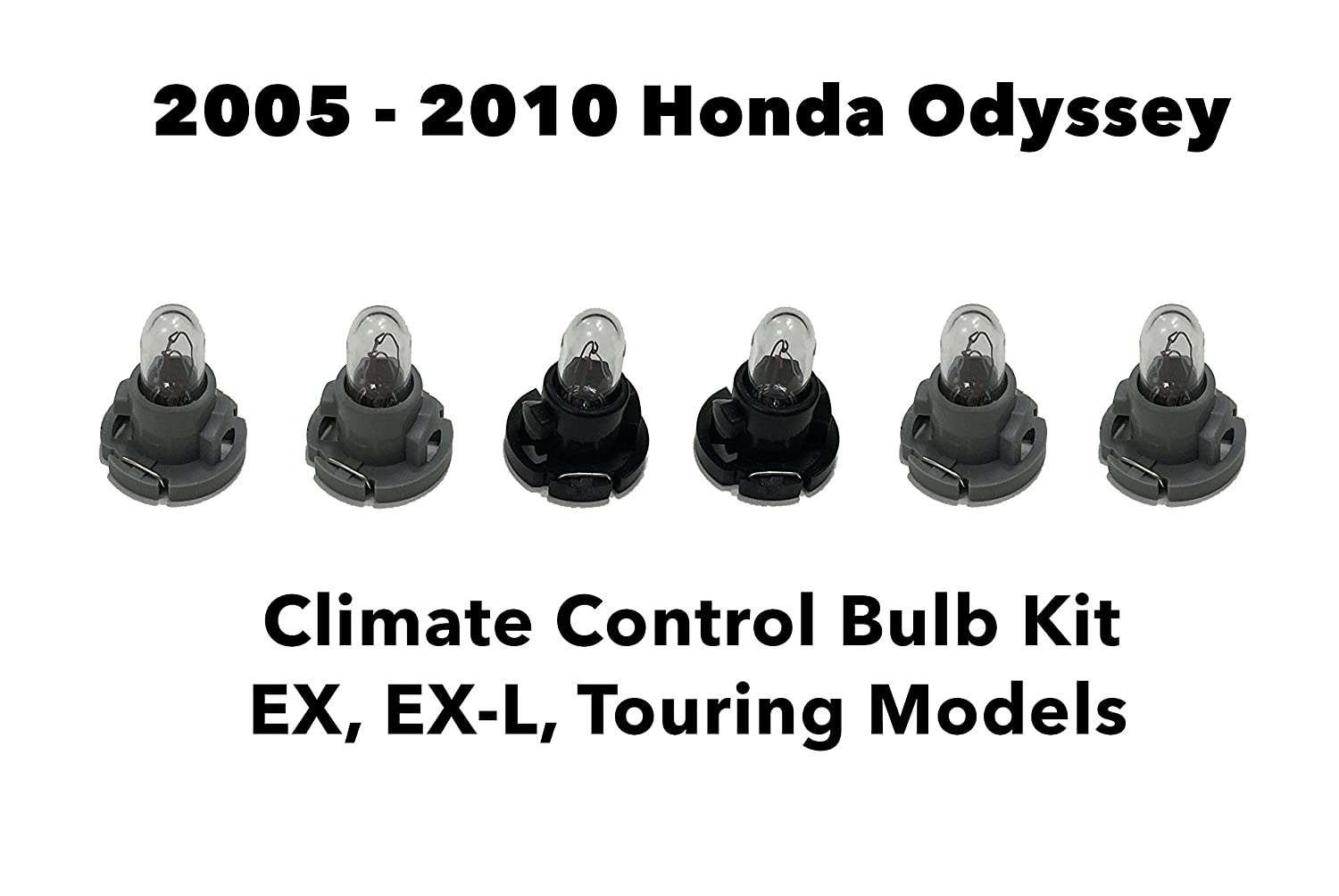 Genuine Oem Honda Odyssey Set Of 6 Bulbs Heater A C 2007 Element Ex Fuse Box Layout Climate Control Light Bulb Kit L Touring 2005 2010 Automotive