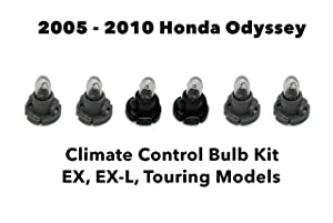 Genuine OEM Honda Odyssey (Set of 6 Bulbs) Heater A/C Climate Control Light Bulb Kit (EX, EX-L, Touring) 2005-2010