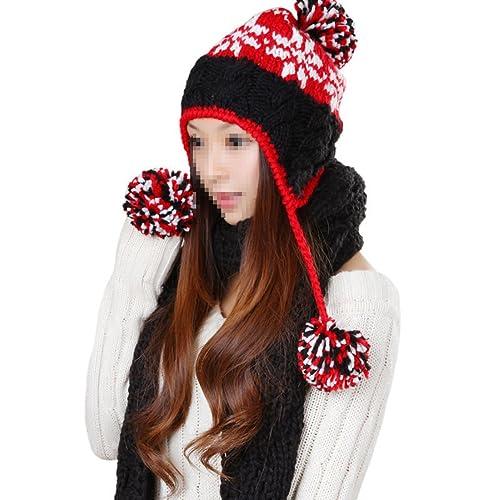 Señoras Otoño E Invierno Amarillo Caliente Señoras Sombreros Kits De La Bufanda Manera Casual
