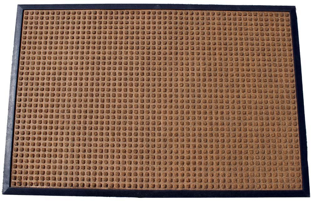 Durable Corporation Polyester Stop-N-Dry Polyester Carpet Mat, for Indoors & Vestibules, 48'' Width x 72'' Length x 1/2'' Thickness, Brown