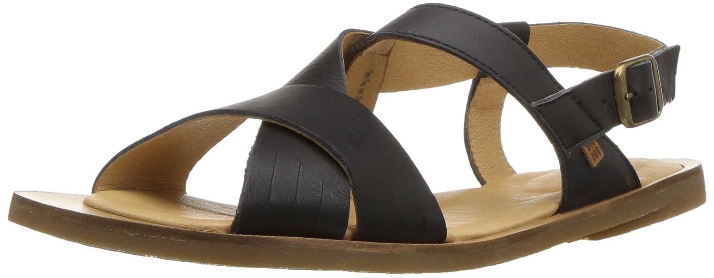 El Naturalista Womens N5181 Dolce Black//Tulip Flat Sandal