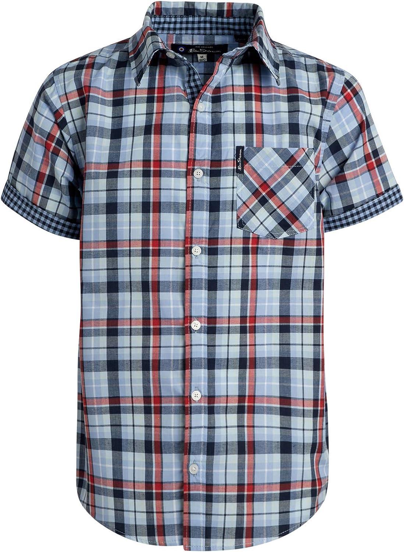 Ben Sherman Boys Short Sleeve Button Down Woven Dress Shirt 2 Pack