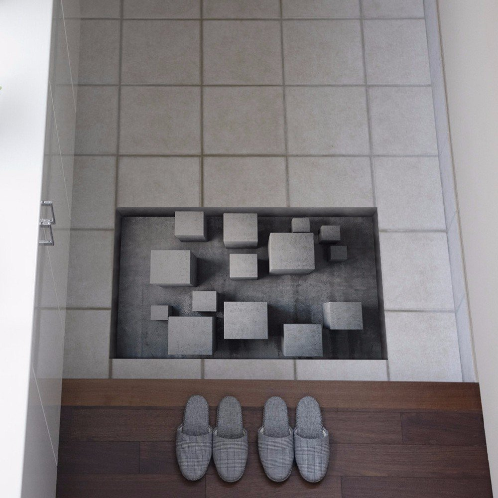 3D to/Bathroom Slip-proof surface/lounge/Foyer/kitchen/dining/WC/water/anti-skid/Self-adhesive/posters (5890cm)