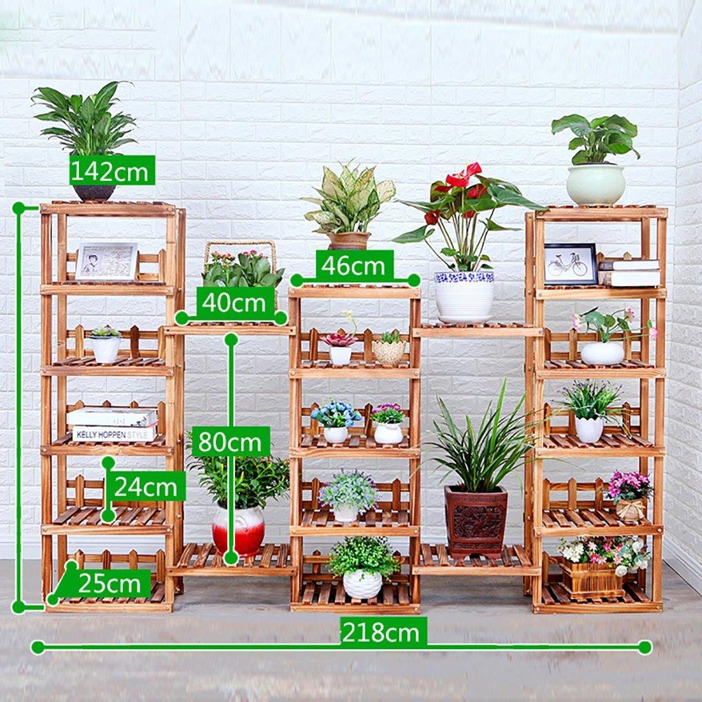 フラワーポットシェルフ\フラワースタンド 木製植物ディスプレイスタンドストレージラック屋外室内花スタンド(マルチサイズ選択) フラワーラック\厚板フレーム (サイズ さいず : 142*218*142cm) B07HFNXDH7  142*218*142cm
