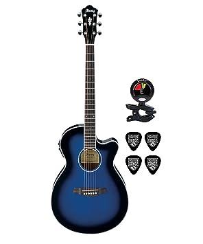 Ibanez aeg10ii acústica guitarra eléctrica paquete de clip con ...