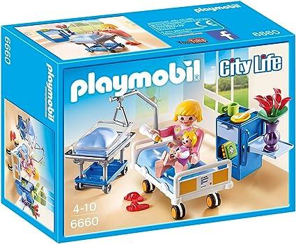 PLAYMOBIL - Sala de Maternidad (66600): Amazon.es: Juguetes y juegos