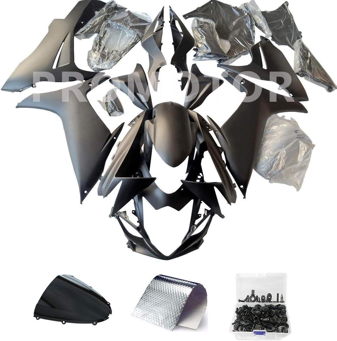 ZXMT Motorcycle Fairing Kit Matte Black Fairings for Suzuki GSXR 600 GSXR 750 2011 2012 2013 2014 2015 2016 2017 2018 2019 25 Pcs