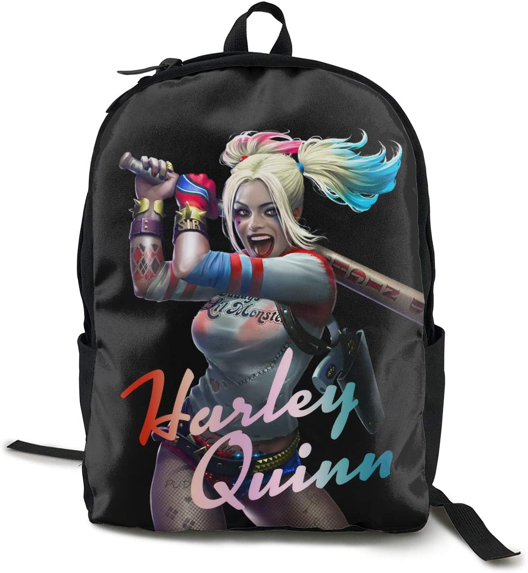 SineRich Harley-Quinn Traveling Backpack College Backpack Student Bookbag Multipurpose Daypacks