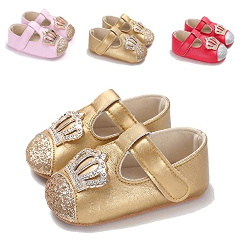 72824f60e7e6 ENERCAKE Infant Baby Girls Mary Jane Flats Non-Slip Soft Soled Toddler  First Walkers Crib Shoes Princess Dress Shoes