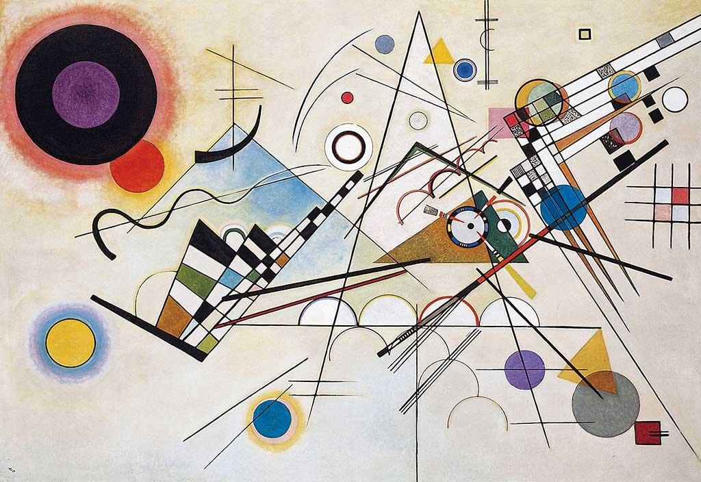 Stampe su Tela Wassily Kandinsky Composition VIII Stampe Foto Decorazione della Stanza Classica e Pittura a Olio Ristampa