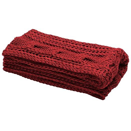 Atmoko Écharpe Cercle en Tricot à Crochet Twist Foulard Tricoté Hiver  Automne Printemps à la Mode pour Femme Fille Homme Garçon, Cadeaux Noël  pour ... bf4243118e2