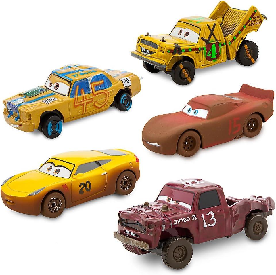Disney Cars 3 Deluxe 5-Piece Die Cast Cars Set Crazy 8 Pixar Lightning McQueen
