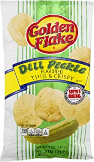 product image for Golden Flake Dill Pickle Potato Chips, 5oz Bag (Pack4) by Golden Flake