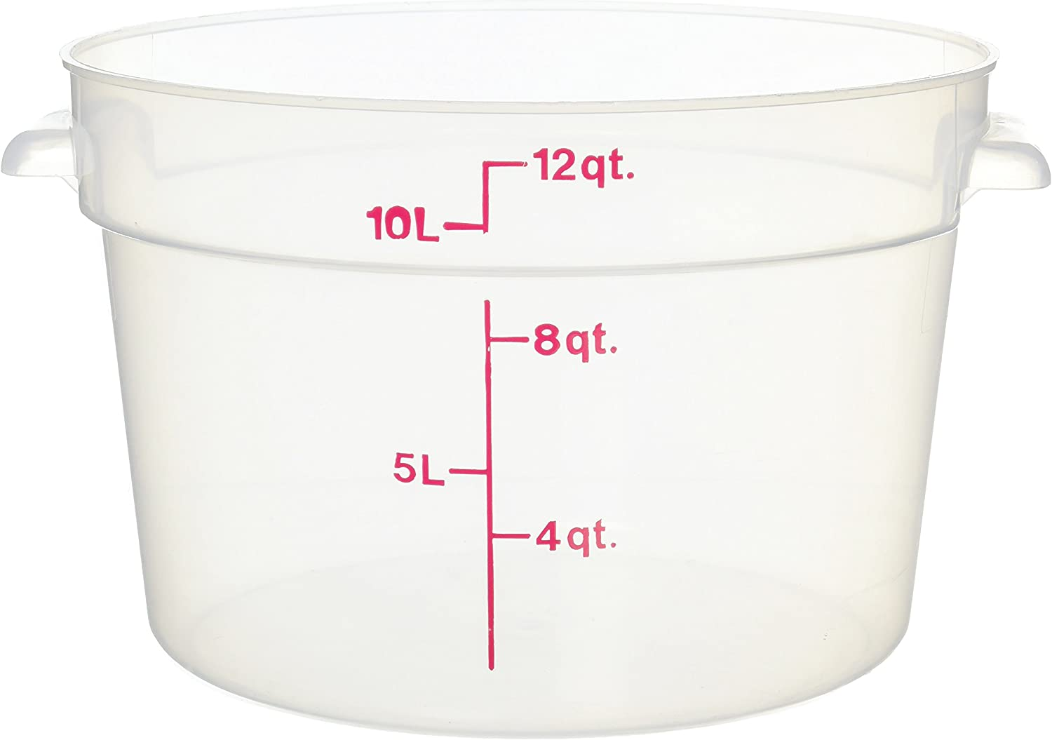 Cambro Camware Translucent Round Food Storage Containers, 12 Quart (RFS12PP) Category: Food Storage Round Containers