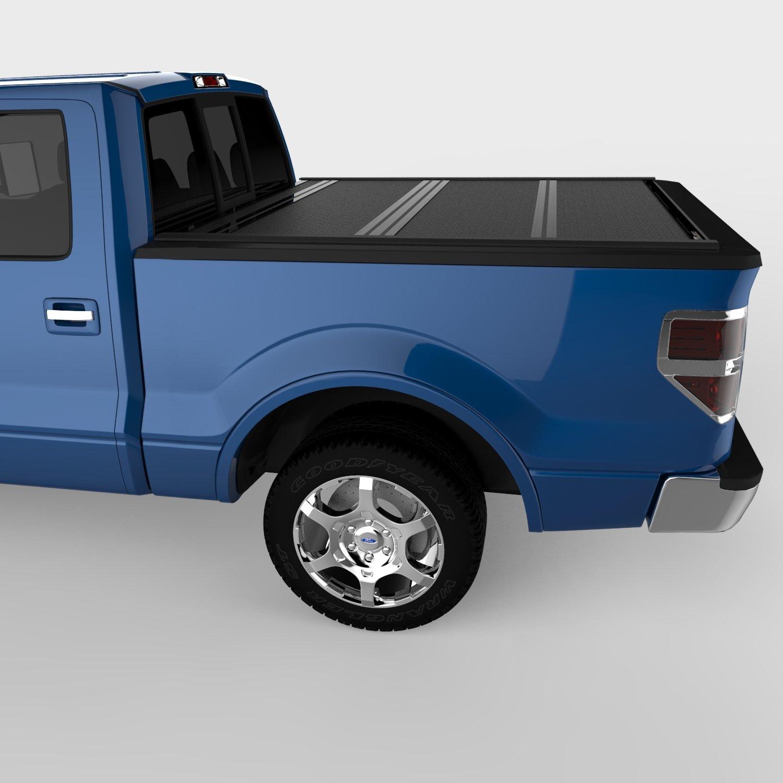 Amazon com undercover fx21002 flex hard folding truck bed cover 2004 2014 f 150 super crew 5 5ft short bed crew automotive