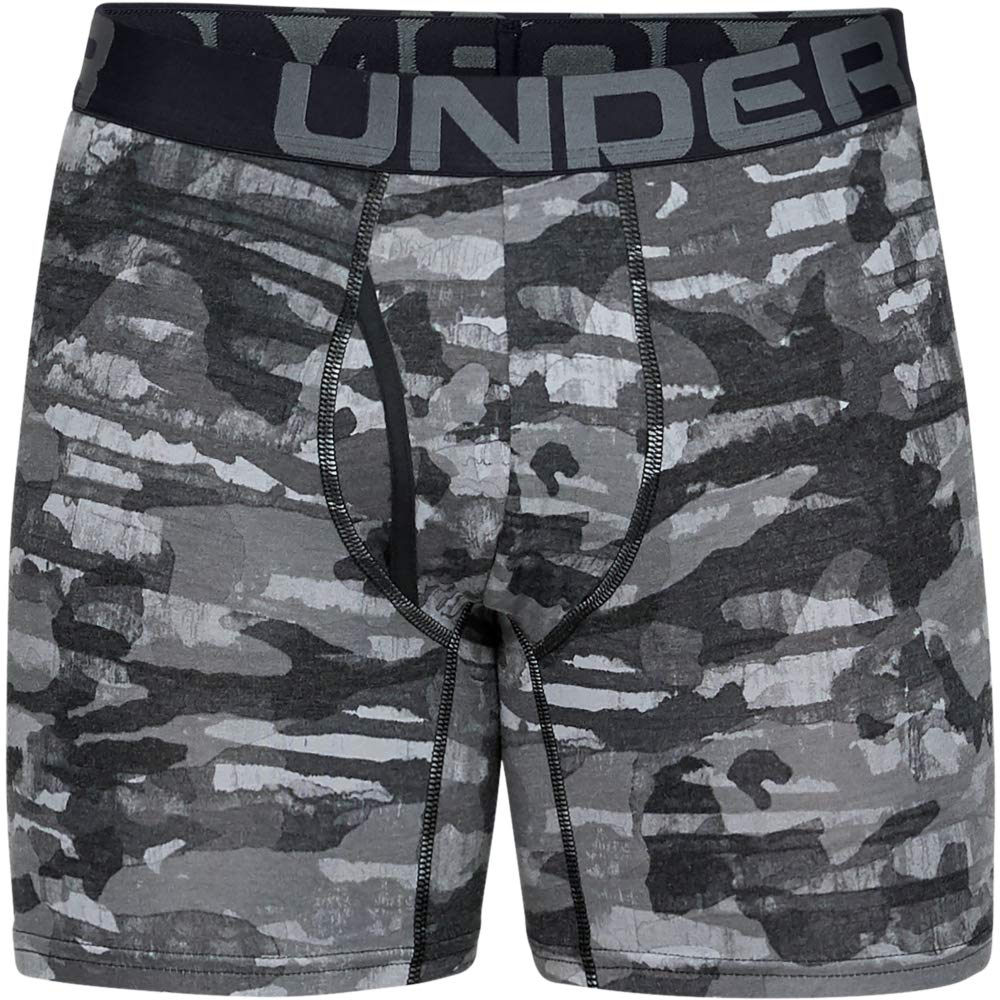 Under Armour Mens Charged Cotton 6in 3 Pack Novelty Boxer Jock