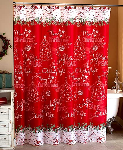 Amazon.com: The Lakeside Collection Chalkboard-Look Holiday Shower ...