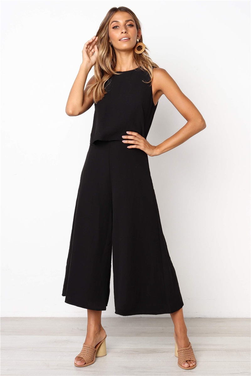 Casual Sleeveless Long Jumpsuit