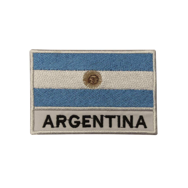 Bandera de la Argentina para planchar parche coser en T bolsa de camiseta Sudam/érica bordado Badge