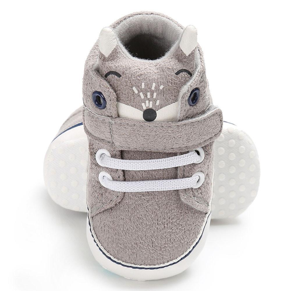 Baby Mädchen-Karikatur-Anti-Rutsch-Turnschuhe weiche Sohle quietschende Schuhe