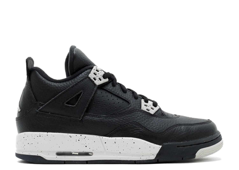 9deaeb129d32f3 Amazon.com  Jordan Air 4 Retro Oreo BG Big Kids Shoes Black Tech Grey-Black  408452-003  Shoes