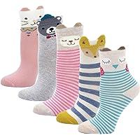 PUTUO Calcetines de Algodón Niñas Navidad Calcetines Animales, Niña Calcetines de Invierno Lindo Calcetines de…