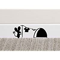 213B Mouse Hole Wall Art Sticker Washing Vinyl