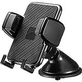 サンワサプライ スマートフォン用車載ホルダー(手帳型ケース対応・オンダッシュタイプ) ブラック CAR-HLD11BK
