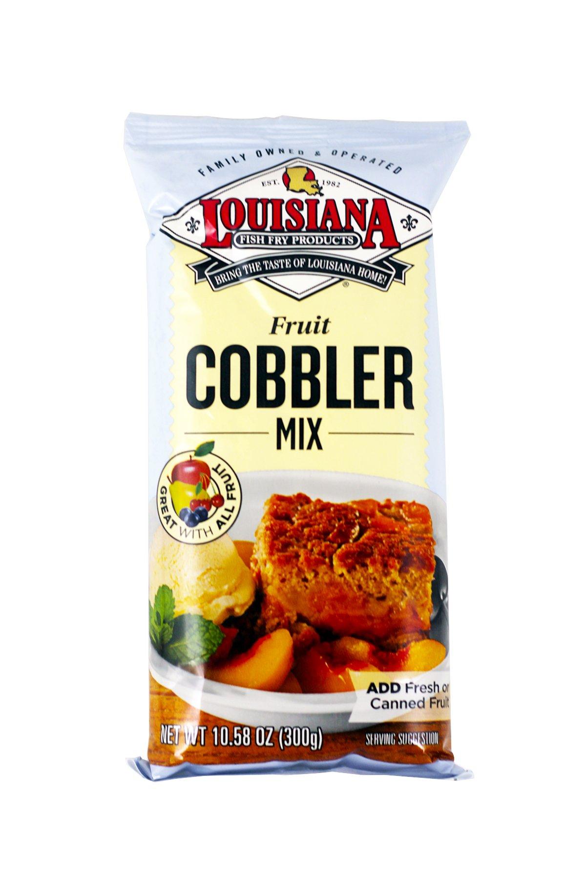 Louisiana Fish Fry Cobbler Mix, 10.58-Ounces  (Pack of 12)