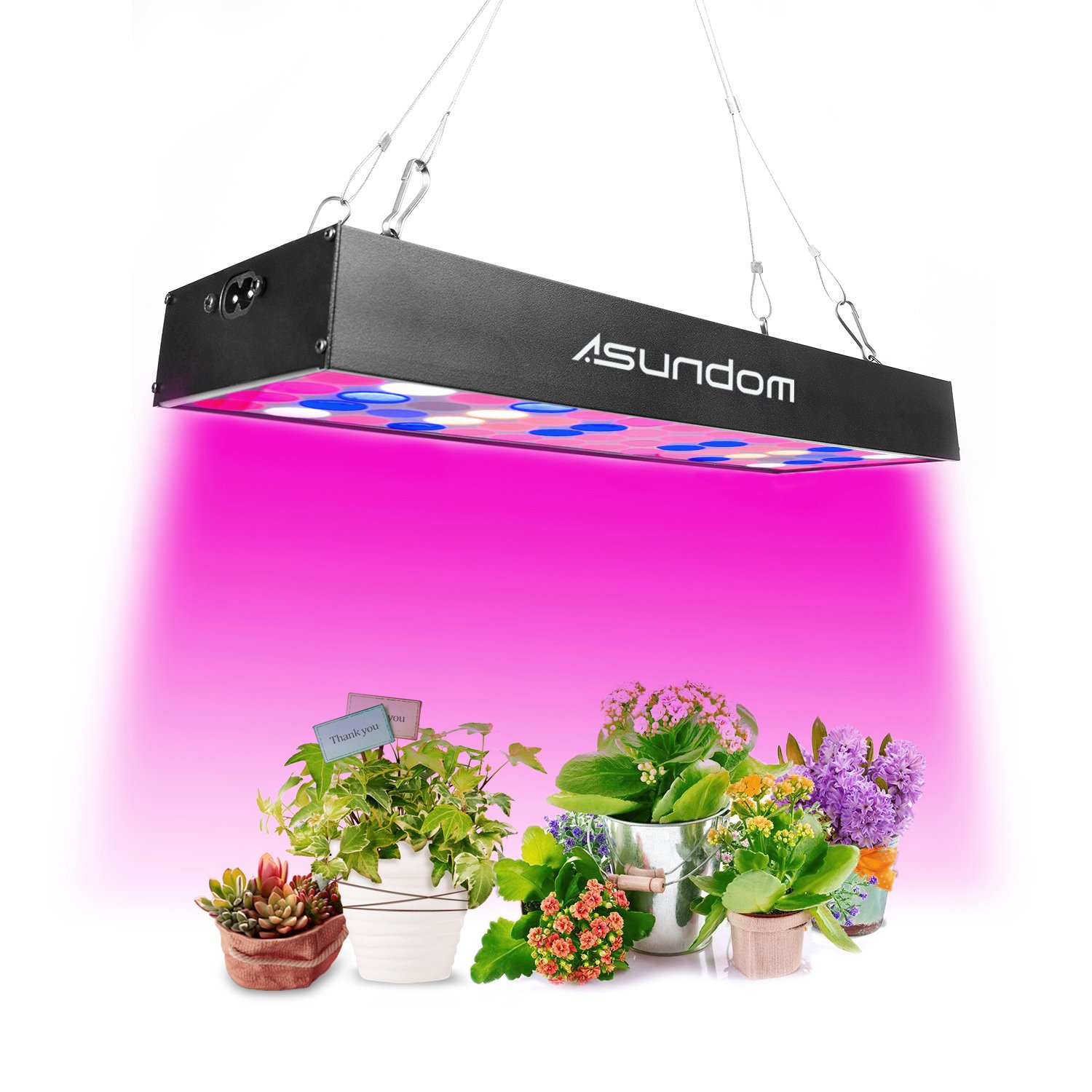 ASUNDOM Grow Light, Panel Full Spectrum UV & IR 36W Grow Lights Aluminum Made with Daisy Chain for Hydroponic Indoor Plants Seeding Growing, Germination & Flowering. LZH
