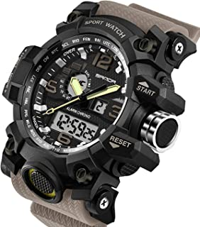 Amazon.com: Smart Watch Mens Pedometer 5ATM Waterproof ...