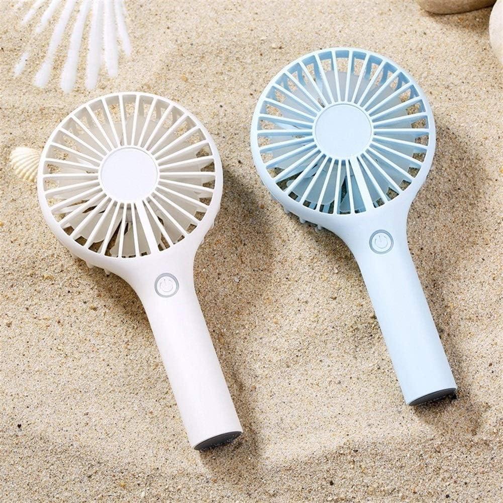 Air Cooler Handheld Fan Mini USB Charging Summer Fan 3 Gear Wind Lightweight Electric Fan Outdoor Personal Fans Color : Blue