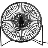 Demiawaking ソーラーファン 卓上扇風機 携帯扇風機 USB扇風機 小型 3.5W 6V ソーラーパネル 6インチ PC 冷却ファン 冷却クーラー