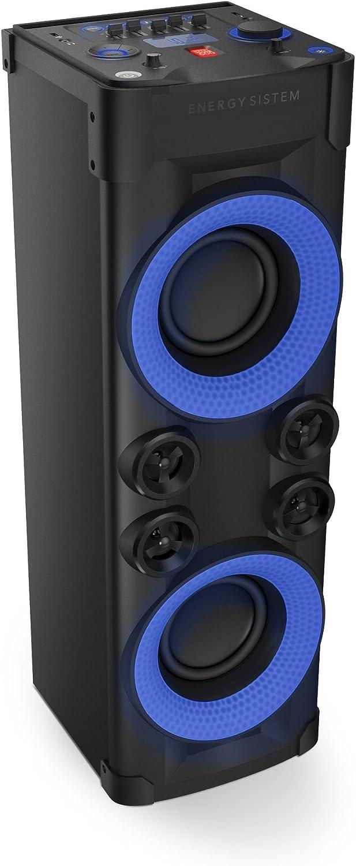 Energy Party 6 Altavoz Karaoke con micrófono y Bluetooth (Botón Power 600W, Luces de Fiesta, USB, Pantalla, Analog EQ)