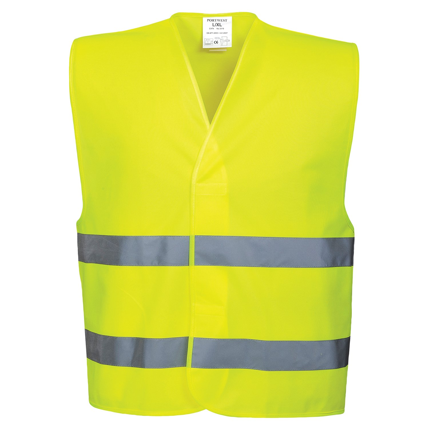 Portwest Workwear Mens Hi-VIS 2 Band Vest