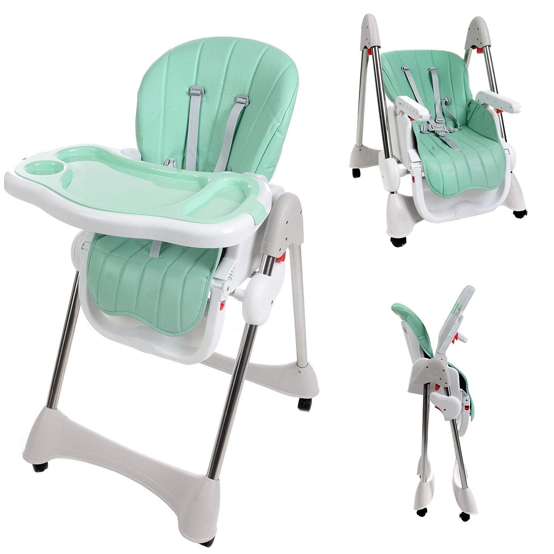 KINDREO 4in1 mitwachsender Babyhochstuhl Kinderhochstuhl Kindertreppenhochstuhl Babystuhl Hochstuhl Liegefunktion Sicherheitsgurt (Grau) KINDEREO
