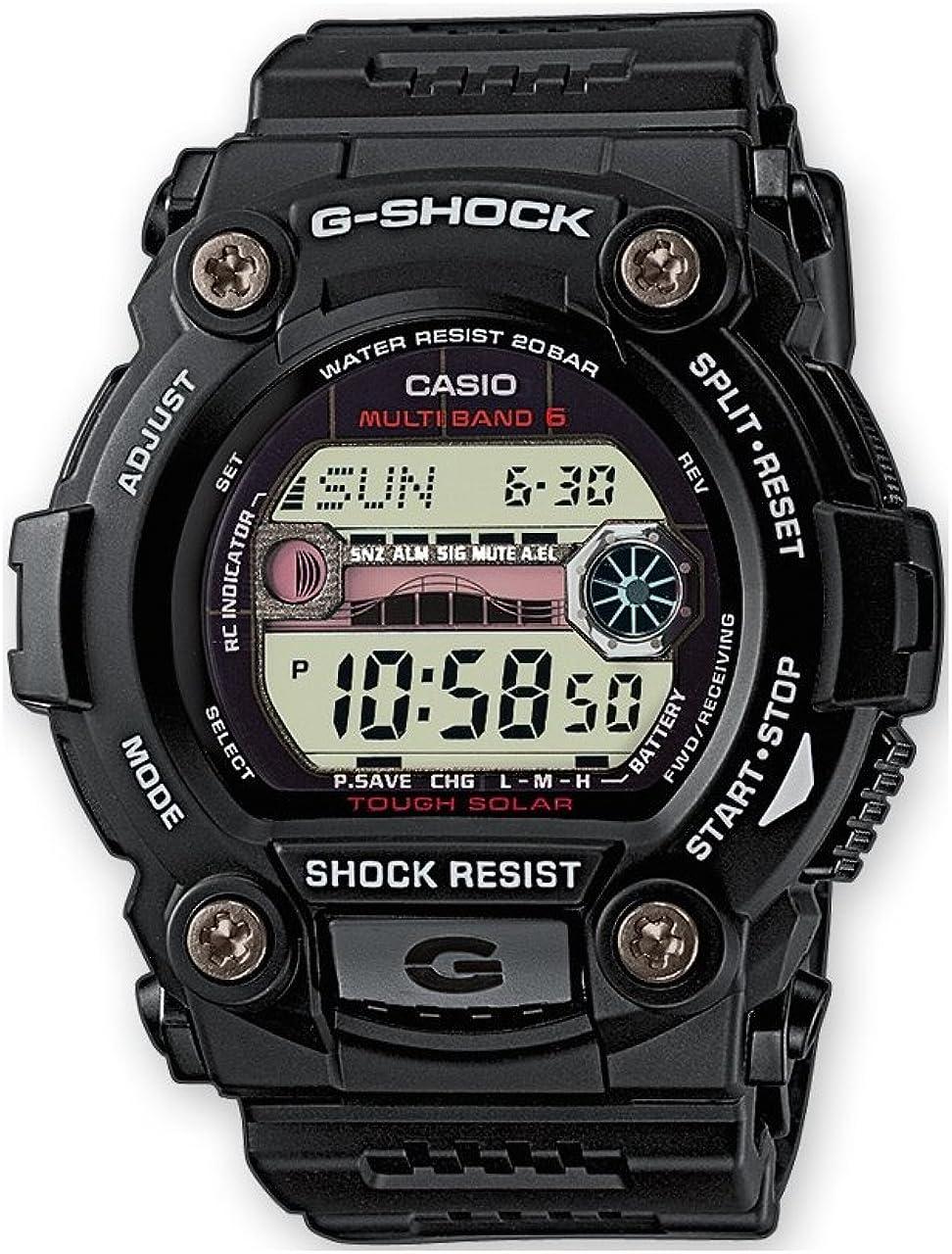 Casio G-SHOCK Reloj Digital, Reloj radiocontrolado y solar, 20 BAR, Negro, para Hombre, GW-7900-1ER