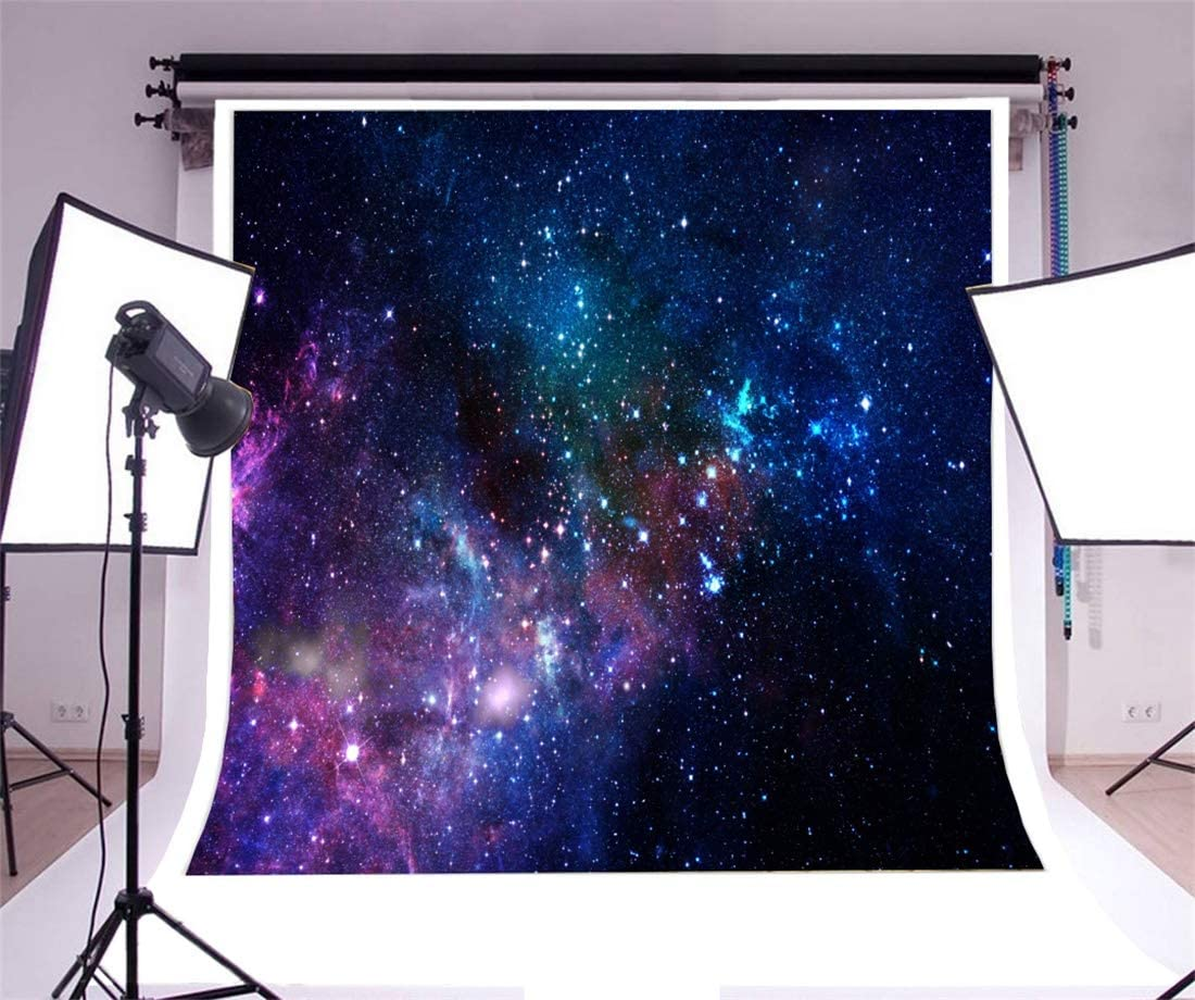 Yeele 9x9ft Universe Photography Background Glitter Star Nebula Photo Portrait Vinyl Studio Video Shooting Photo Backdrop Wallpaper