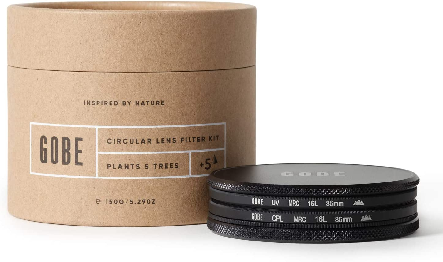 Gobe 86mm UV + Circular Polarizing (CPL) Lens Filter Kit (3Peak)
