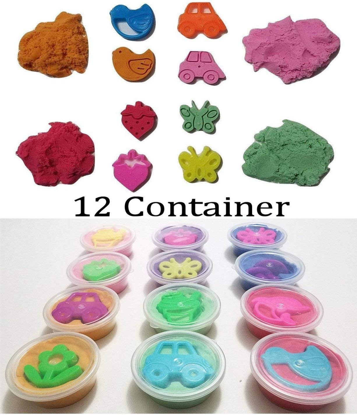 JM 12 Small Space Sand//Moon Sand//Crazy Magic Sand Mold-N-Play Educational Creative Fun Kids DIY Toy Kinetic