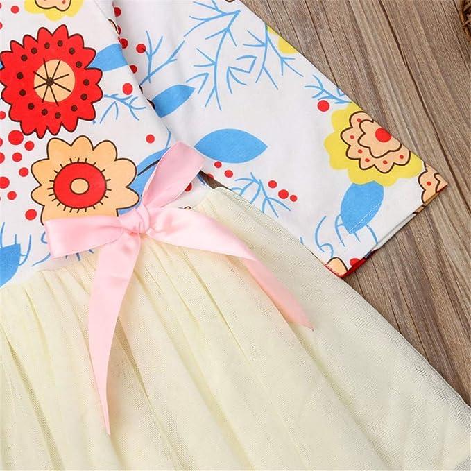 Wang-RX Sweet Flower Toddler Kids Baby Girls Princess ...