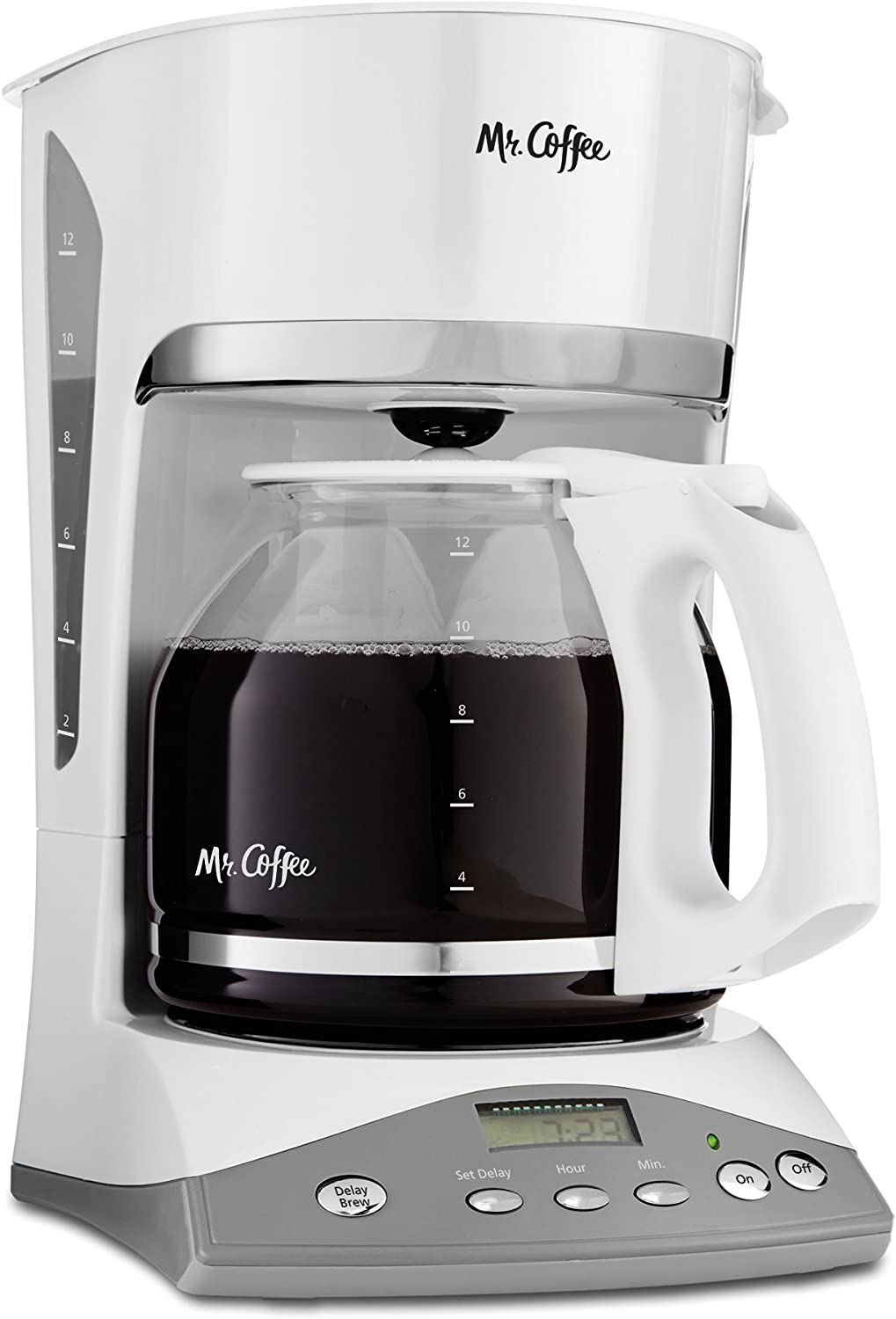 Mr. Coffee 12 Cup Programmable Coffee Maker, White