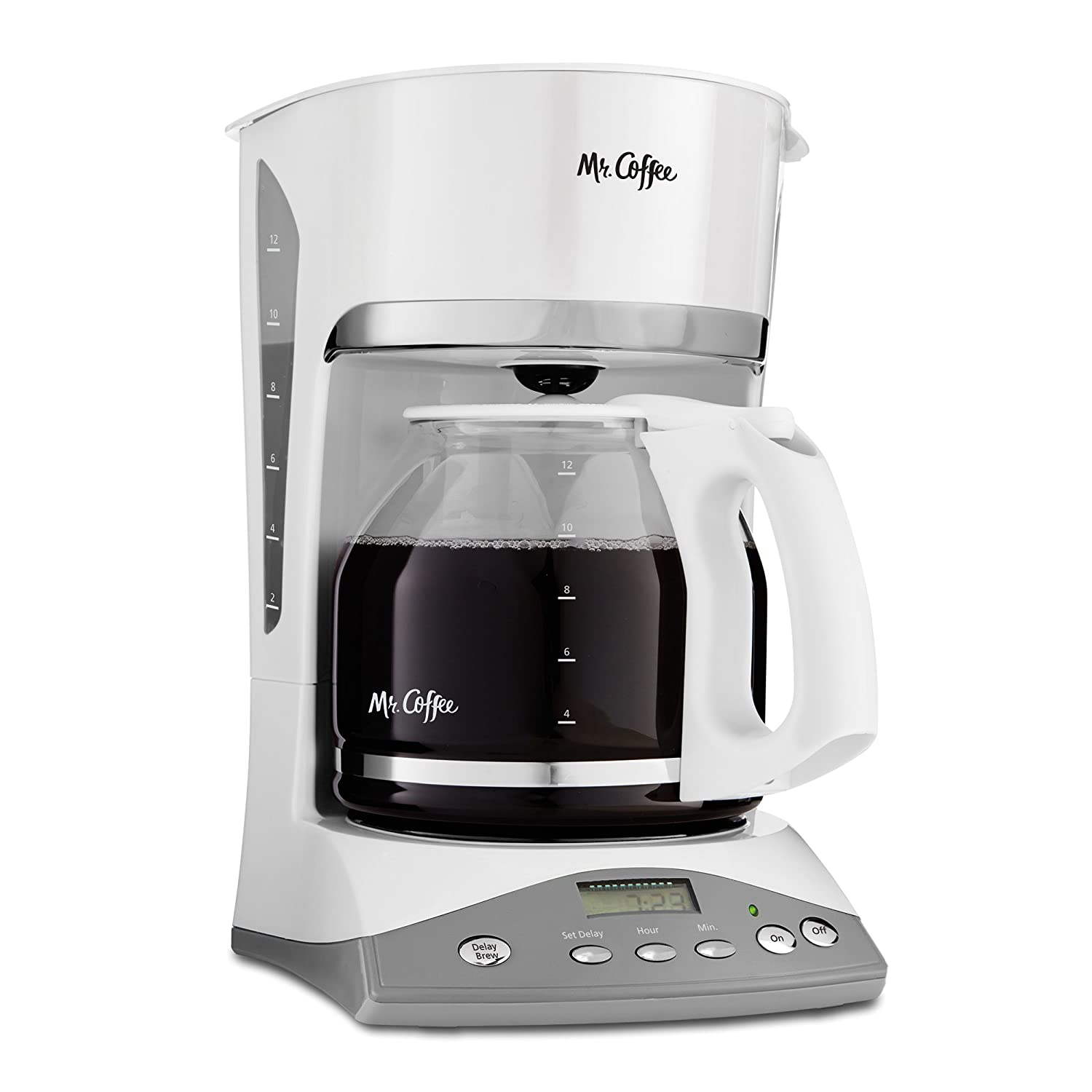 Mr. Coffee 12-Cup Programmable Coffee Maker, White