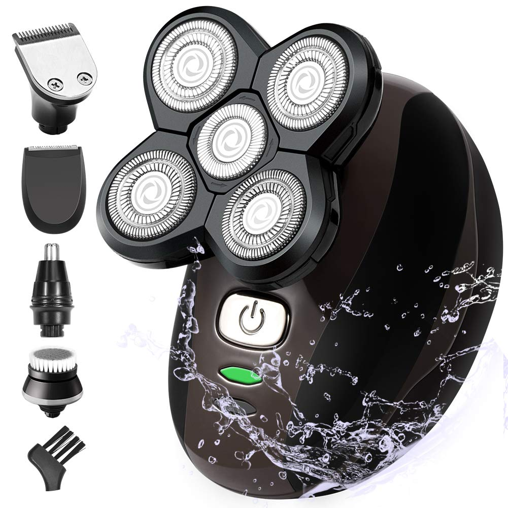 PaiTree 5 in 1 Head and Face Electric Rotary Shaver