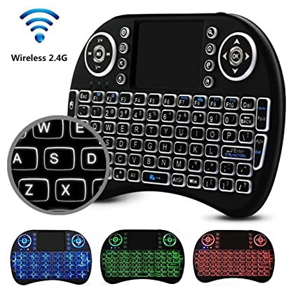 00ebcd0a91b Mini 2.4GHz USB Wireless Keyboard with Touchpad Mouse for Windows PC,  Raspberry Pi,