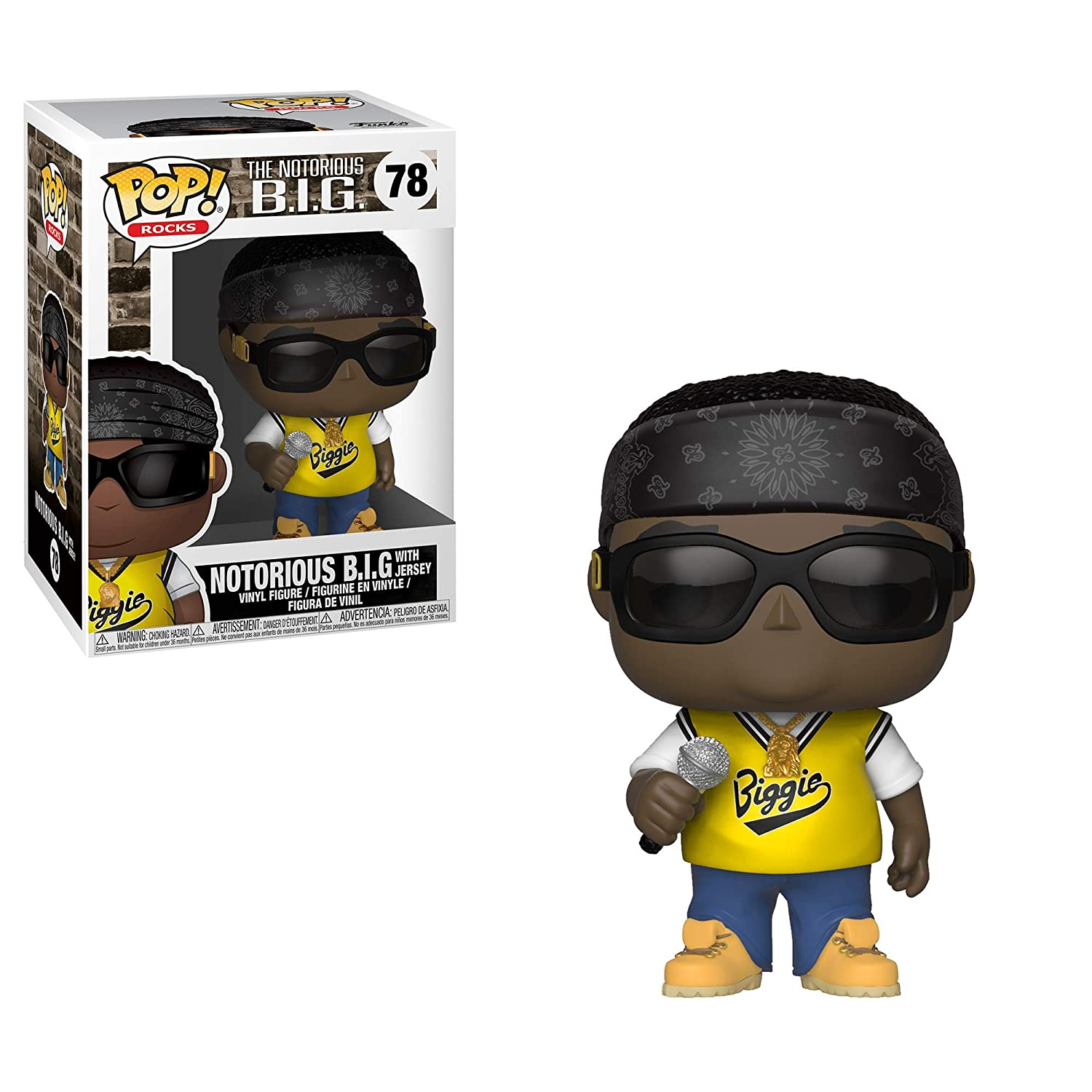 in Jersey Collectible Figure Notorious B.I.G Funko Pop Rocks: Music Multicolor 31554