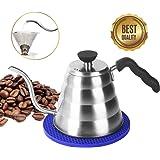 Kaffeekanne Edelstahl Teekessel Elektrisch, Ohne Filter, 1,2L für 4 Tassen, Kaffeekessel Wasserkessel Wasserkocher Japan