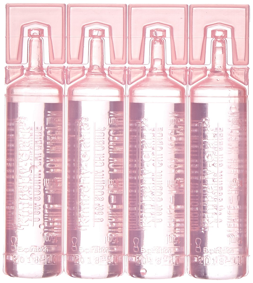 Halyard Health 116 Saline Vials for Closed Suction Catheters, Non-Sterile, Nonpyrogenic, Pink (Pack of 6)